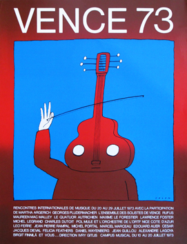 Screenprint poster de  : Vence II