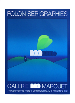 Screenprint poster de  : Folon screenprints