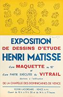 Manifesto litografia firmato de  : Vierge et enfant sur fond jaune