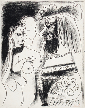 Original lithograph de Picasso Pablo : The old king