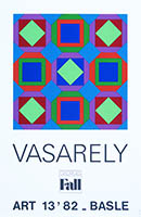 Screenprint poster de Vasarely Victor : Art 13'82 Basle