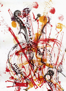 Original signed lithograph de  : Impressions - Subjectif