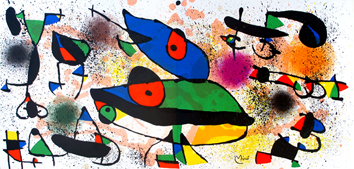 Lithographie originale de  : Miro sculptures I