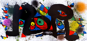 Original lithograph de  : Miro sculptures II