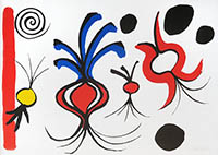Lithographie originale signée de  : Quatre oignons