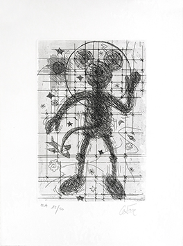 Original signed etching de César Baldaccini : Mickey