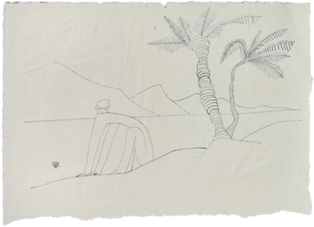 Drawing in ink de  : Souvenir d'Egypte