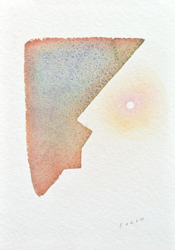 Original signed watercolour de  : Il parle à la lune