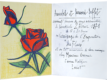 Original lithograph de  : Small roses