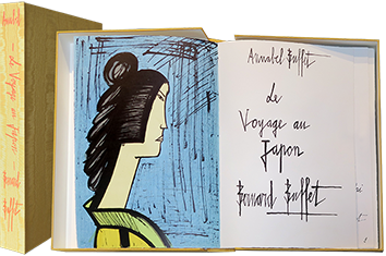 Book with lithographs de Buffet Bernard : Voyage au Japon