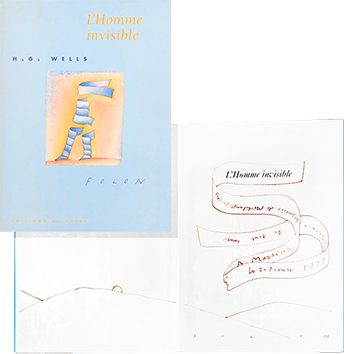 Book with original drawing de  : L'homme invisible