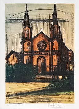 Original signed lithograph de Buffet Bernard : San Francisco 8