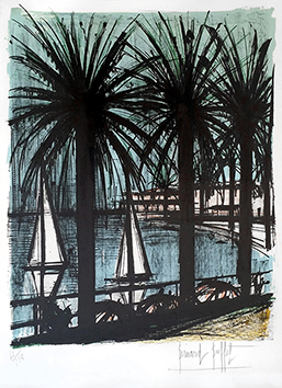 Original signed lithograph de  : Cannes