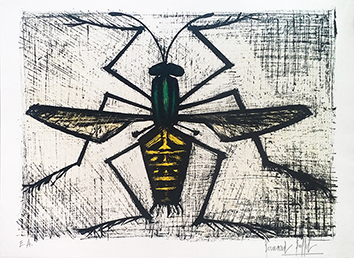 Original signed lithograph de  : L'abeille