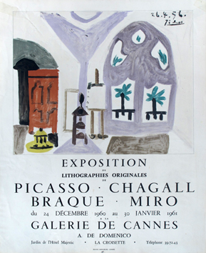 Poster de Picasso Pablo : Poster, Gallery of Cannes II