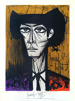 Signed lithograph de  : Toreador