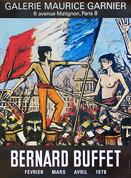 Offset exhibition poster de Buffet Bernard : The French revolution