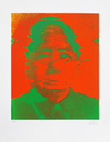 Signierte Originalserigraphie de  : Mao
