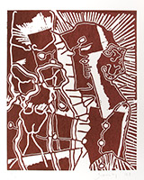 Original signed woodcut de  : Comme un aimant