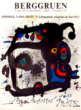 Cartel original de Miro Joan : Homenaje a Joan Prats