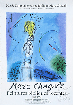 Signed poster de Chagall Marc : Biblical paintings III