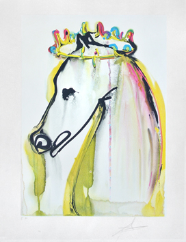 Signed lithograph de  : The Horse of Caligula