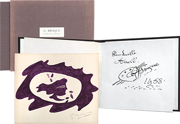 Original signed lithograph de  : Georges Braque - Grands livres illustrés
