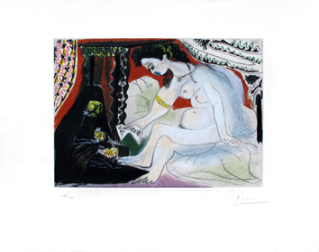 Signed aquatint de  : Bethsabée