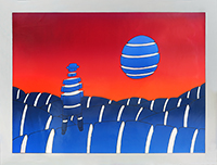 Original signed screenprint de Folon Jean Michel : Split reality