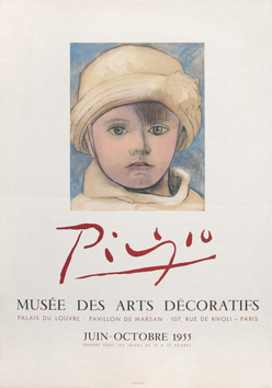 Mourlot poster de Picasso Pablo : Museum of Decorative Arts 55