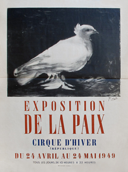 Mourlot poster de Picasso Pablo : Exhibition of the Peace