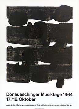 Affiche lithographie de  : Donaueschinger Musiktage 1964
