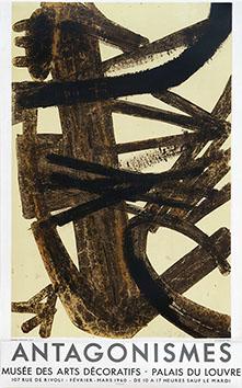 Affiche lithographie de  : Antagonismes, Musée des Arts Décoratifs II