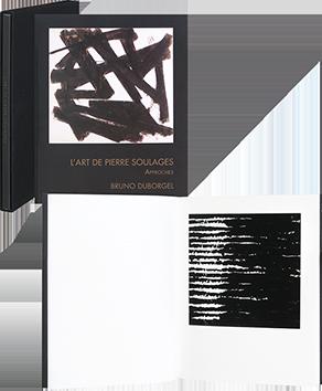 Livre avec estampe de  : L'art de Pierre Soulages - Approches