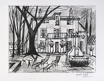 Original signed etching de Buffet Bernard : Domaine de la Baume