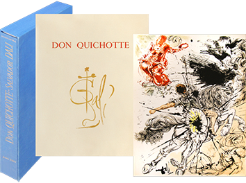 Book with lithographs de  : Don Quichotte de la Manche