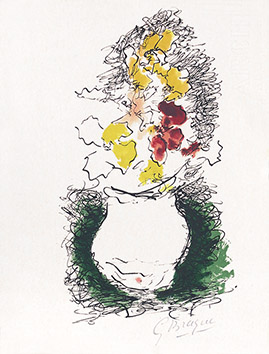 Original signed lithograph de  : Le Bouquet