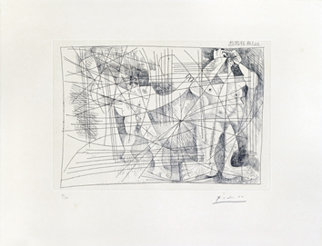 Original signed etching de Picasso Pablo : Couple