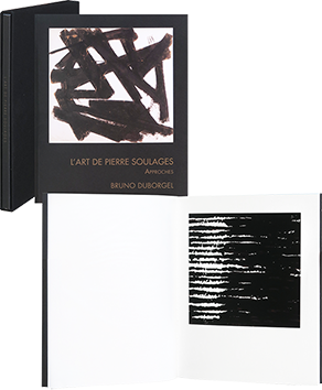 Book with print de  : L'art de Pierre Soulages - Approches