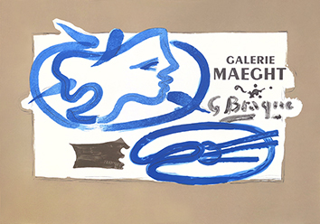 Mourlot exhibition poster de Braque Georges : Galerie Maeght