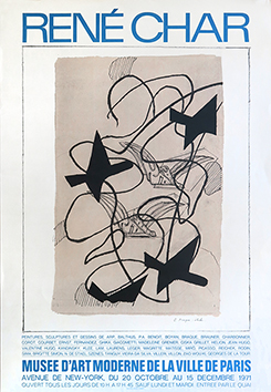 Affiche lithographie de  : René Char