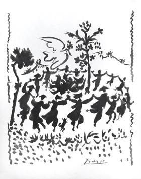 picasso friedenstaube postkarte