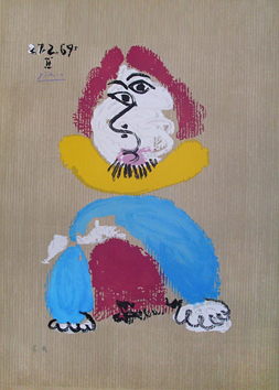 Lithograph de  : Imaginary portraits 27.2.69 II