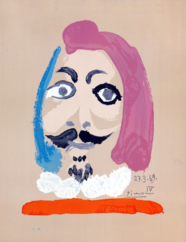 Lithograph de  : Imaginary portraits 27.3.69 IV