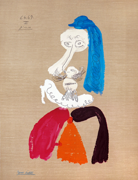 Lithograph de  : Imaginary portraits 6. 4. 69. II
