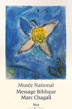 Affiche lithographie de  : L'ange au chandelier