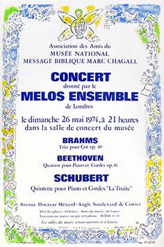 Affiche lithographie de  : Affiche pour les concerts