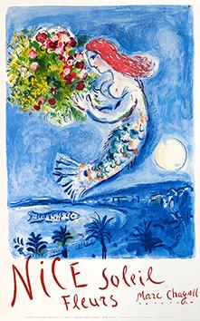 Affiche lithographie originale de  : La Baie des Anges