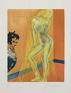 Signed lithograph de  : Allegory