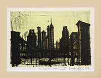 Original signed lithograph de Buffet Bernard : New York